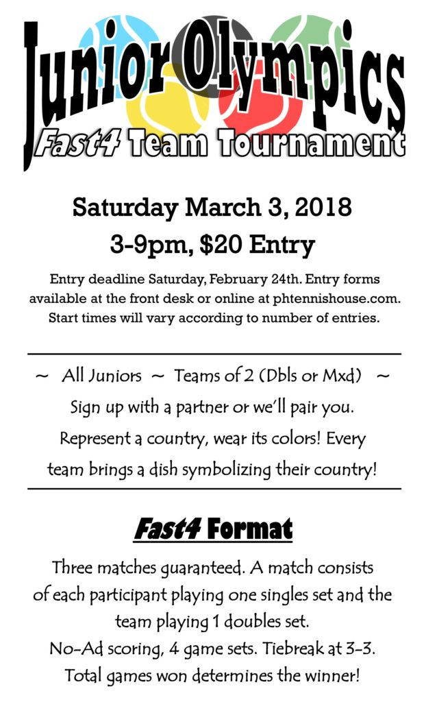 Junior Olympics Fast4 Team Tournament!